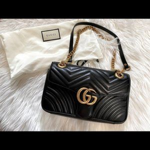 New gucci Marmont matelasse shoulder bag